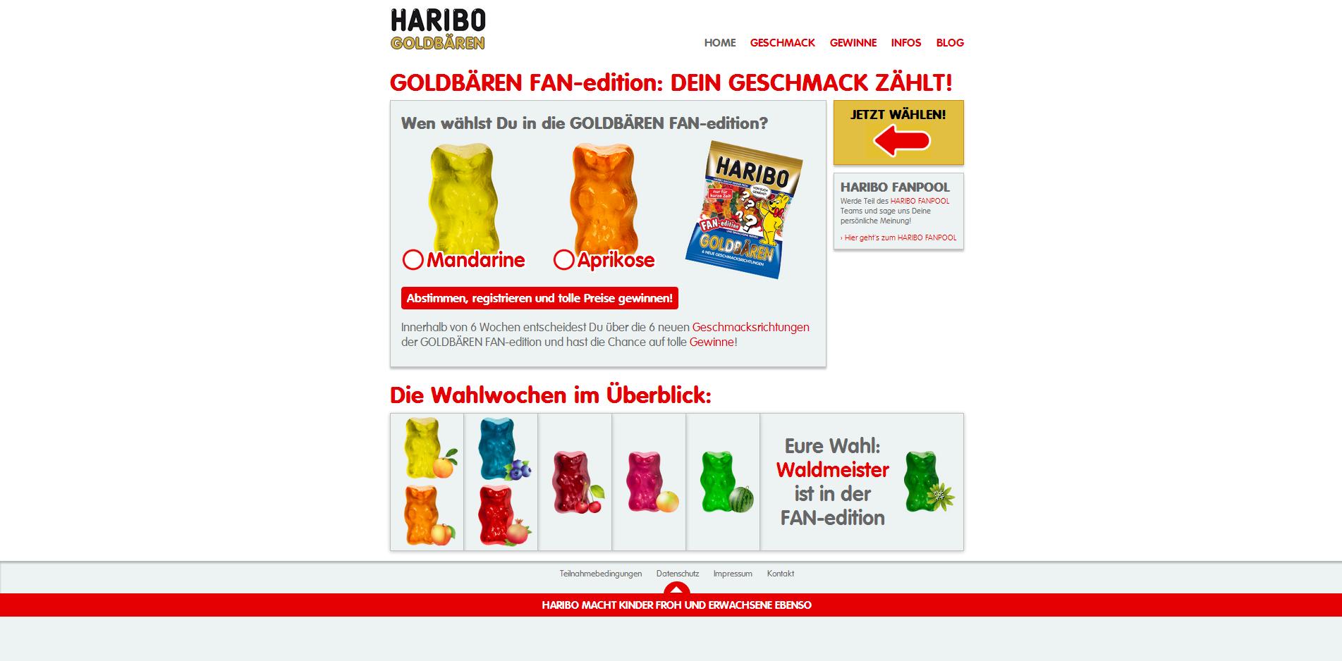 Haribo Goldbären Fanedition Aktion 2014
